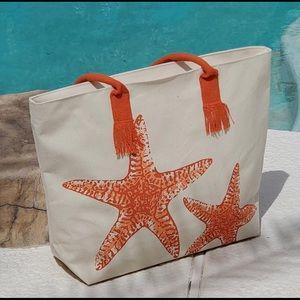 Handbags - New large Canvas bag with starfish design.